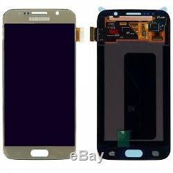Affichage LCD Komplettset Touchscreen Gold Pour Samsung Galaxy S6 G920 G920f Ersatz