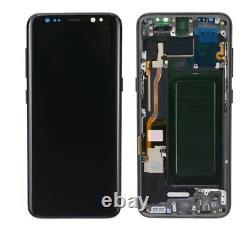 Affichage Original Samsung Galaxy S8 Sm-g950f Schwarz Bildschirm Écran Tactile LCD