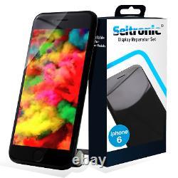 Afficher L'iphone 6 Ersatz LCD Mit Retina Glas Scheibe -schwarz- Top Black Qualität