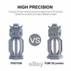 Anycubic LCD 3d Photon Imprimante Uv Lumière Sla 2.8 Écran Tactile Mit 500ml Résine