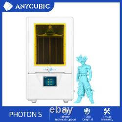 Anycubic Sla Photon S Imprimante LCD 3d Uv Double Axe Z À Coupe Lumineuse + 500ml Résine