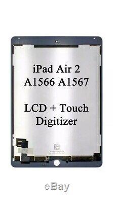 Apple Ipad 2 Ipad Air 6 LCD De Remplacement Digitizer Écran Tactile Blanc Oem