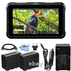 Atomos Shinobi 5.2 4k Hdmi Monitor Atomshbh01 + 2 Batteries Et Chargeur Bundle