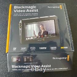 Blackmagic Design Video Assist 5 Moniteur Sdi / Hdmi Enregistreur Gratuit Mini Sdi Vers Sdi