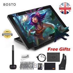 Bosto 15,6 Pouces Artiste Carte Graphique Moniteur LCD Avec Dessin Tablet Stylus Pen