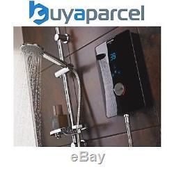 Bristan Bliss 3 Écran Tactile LCD De Douche Électrique 9,5kw, Noir Numérique + Rail De Montage