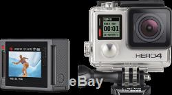 Caméra Gopro Hero4 Silver Edition Chdhy-401 Avec Écran LCD Avec De Nombreux Accessoires