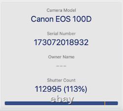Canon 100d Dslr Caméra 18mp Avec Objectif 18-55mm, Écran Tactile, Très Bon État