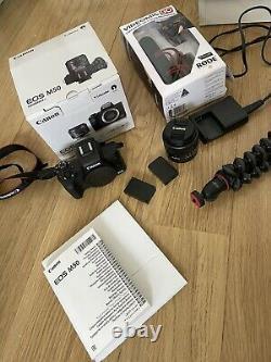 Canon Eos M50 LCD 3 Pouces 24.1mp 4k Wifi Construit En Flash Avec Kit Vlogger Noir