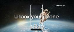 Clean LCD Samsung Galaxy S8 Noir 64go At & T Seulement L'écran G950u Est Scratch Free