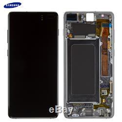 D'origine Samsung Galaxy S10 Plus G975f LCD + Écran Tactile Digitizer Noir