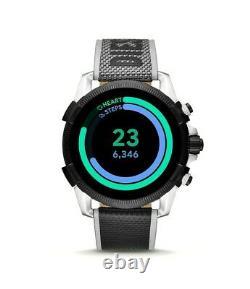 Diesel Dzt2012 Plein Guard 2.5 Écran Tactile Hr Gps Strap En Nylon Homme Smartwatch