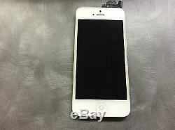 Digitaliseur Avec Écran Tactile LCD D'origine Pour Iphone 5, Appareil Photo Et Bouton Principal, Blanc C