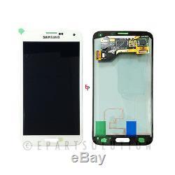 Digitaliseur Blanc Écran LCD Pour Samsung Galaxy S5 G900a G900t G900v