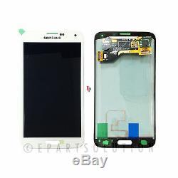 Digitaliseur Blanc Écran LCD Pour Samsung Galaxy S5 I9600 G900a