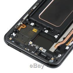 Digitaliseur D'écran Tactile D'affichage D'affichage À Cristaux Liquides D'oem Pour Le Cadre De Samsung Galaxy S8 + Plus Noir