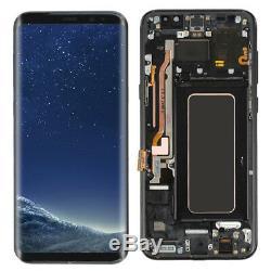 Digitaliseur D'écran Tactile D'affichage D'affichage À Cristaux Liquides Pour La Galaxie S8 Plus De Samsung Avec Le Noir De Cadre