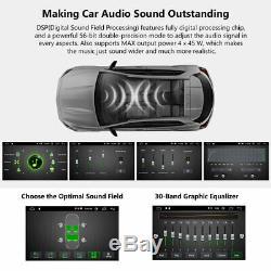 Double 2din Car Radio Stéréo Gps Navi Lecteur Bluetooth Usb Aux Sd Écran Tactile E