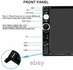 Double Din Car Stereo Audio Radio 7' Écran Tactile Écran LCD Numérique Bluetooth