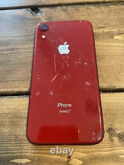 Écran Cracked & Back Apple Iphone Xr Red Bad LCD As Est Voir Les Détails