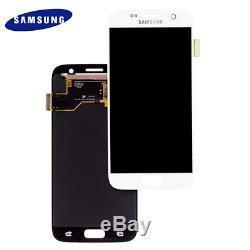 Ecran LCD D'origine Pour Samsung Galaxy S7 Sm-g930f + Écran Tactile Bildschirm Weiß