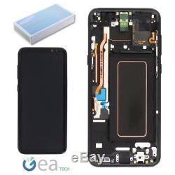 Ecran LCD D'origine Samsung + Ecran Tactile + Cadre Par Galaxy S8 Sm-g950f Nero