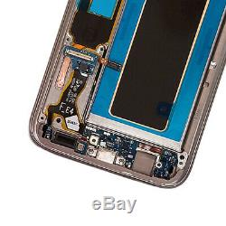 Écran LCD Écran Tactile Digitizer + Cadre Pour Samsung Galaxy S7 Bord G935f Or