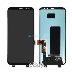 Ecran LCD Écran Tactile Schermo Par Samsung Galaxy S8 Sm-g950f G950 Nero + Couvercle