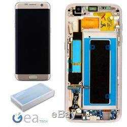 Ecran LCD Original Pour Samsung + Ecran Tactile Pour Galaxy S7 Edge Sm-g935f Doré