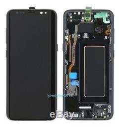 Ecran LCD Pour Ecran Tactile Schermo + Telaio Pour Samsung Galaxy S8 G950f Nero +