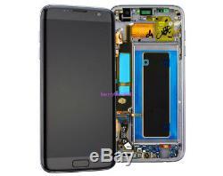 Ecran Tactile LCD + Cadre Pour Samsung Galaxy S7 Edge G935f Nero + Coque + Outil