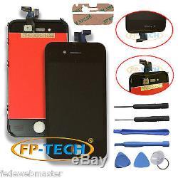 Ecran Tactile LCD Retina Schermo E Cadre Vetro Pour Apple Iphone 4s Nero