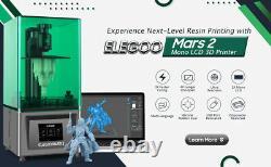 Elegoo Mars Imprimante LCD 3d Uv Photocurage 3,5'' Smart Touch Écran Couleur Usb Hd