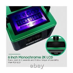 Elegoo Mars Uv Photocuring LCD 3d Printer 3.5'' Smart Touch Color Screen Noir