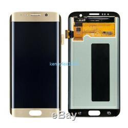 Für LCD Samsung Galaxy S7-bord Sm G935f Affichage Écran Tactile Digitizer Gold + Couverture