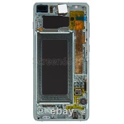Für Samsung Galaxy S10+ Plus G975f LCD Display Écran Tactile Glas Bildschirm Grün