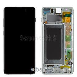 Für Samsung Galaxy S10+ Plus G975f LCD Display Écran Tactile Glas Bildschirm Weiß