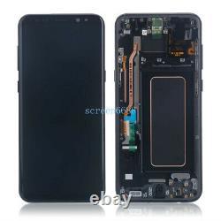 Für Samsung Galaxy S8+ Plus Sm-g955f Écran LCD Écran Tactile Glas+rahmen Schwarz
