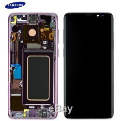 Für Samsung Galaxy S9 + G965f S9 Plus Amoled Écran LCD Tactile + Purple Frame