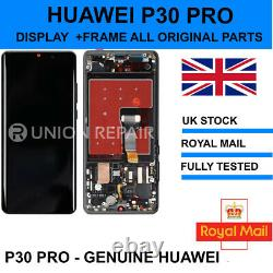 Genuine Huawei P30 Pro Affichage De Remplacement Screen & Cadre Touch Vog-l09 L29 LCD