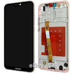 Huawei P20 Lite Komplettes LCD Tactile Sakura Rose + Mit Rahmen