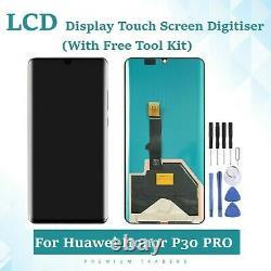 Huawei P30 Écran LCD De Remplacement Pro Écran Tactile Numériseur Assemblée Uk Noir