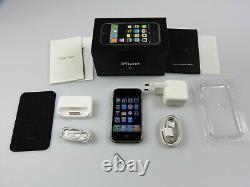 Iphone Apple 1. Génération/2g 8gb Schwarz! Ohne Simlock! Ovp! Haut! Imei Gleich