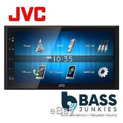 Jvc Kw-m24bt 6.8 LCD Mechless Double Din Bluetooth Usb Iphone Voiture Lecteur Stéréo