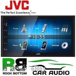 Jvc Kw-m24bt 6.8 LCD Touchscren Mechless Bluetooth Usb Lecteur De Voiture Stéréo Pour Iphone