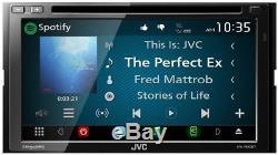 Jvc Kw-v640bt Lecteur DVD / CD 2 Din 6.8 LCD Spotify Pandora Bluetooth Siriusxm
