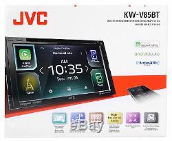 Jvc Kw-v85bt 2 Din Lecteur DVD / CD 6.8 LCD Spotify Pandora Bluetooth Siriusxm