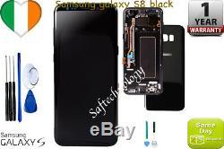 LCD D'origine Samsung Galaxy Noir S8 G950f Affichage Écran Tactile Cadre Digitizer +