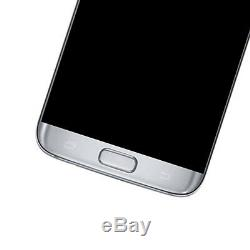 LCD Écran Tactile Digitizer Cadre Par Samsung Galaxy S7 Bord G935f Argent