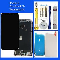 LCD Retina Hd Display Pour Iphone X Écran Tactile 3d Bildschirm Schwarz Black
